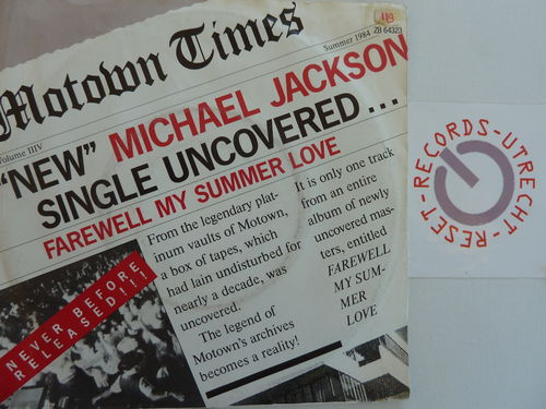 Michael Jackson - Farewell my summer love / Call me on