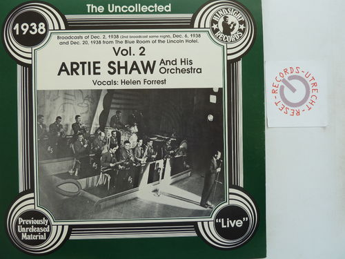 Artie Shaw - The uncollected Artie Shaw and his orchestra  Vol 2 1938